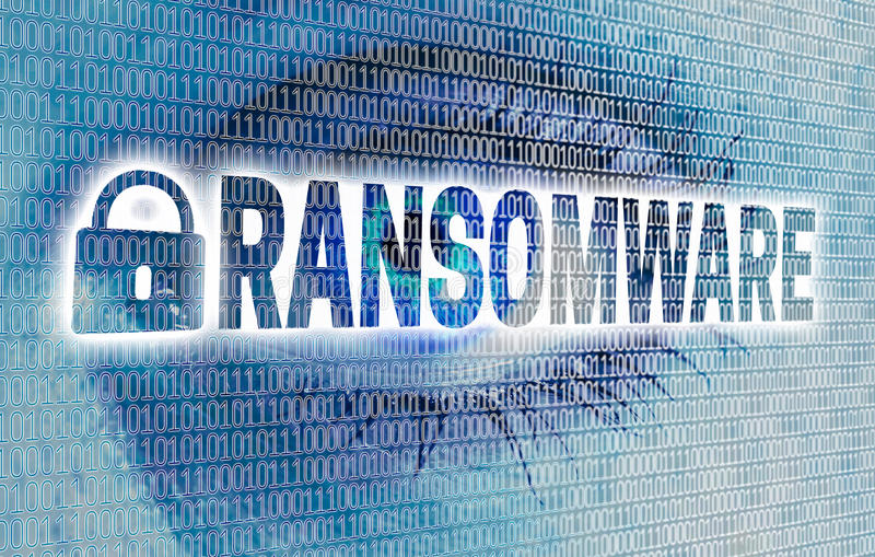 Ransomware eye with matrix looks at viewer concept.  stock photo