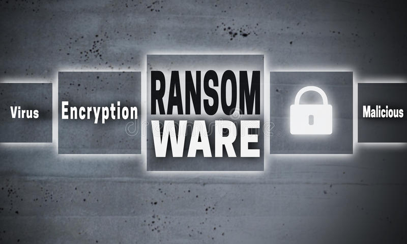 Ransomware touchscreen concept background vector illustration