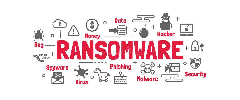Ransomware vectorbanner stock illustratie