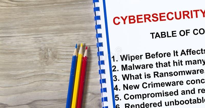 Ransomware y limpiadores de Cybersecurity fotografía de archivo libre de regalías