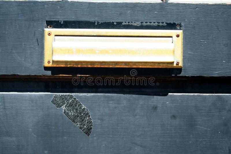 Ranura de correo de la puerta fotografía de archivo libre de regalías