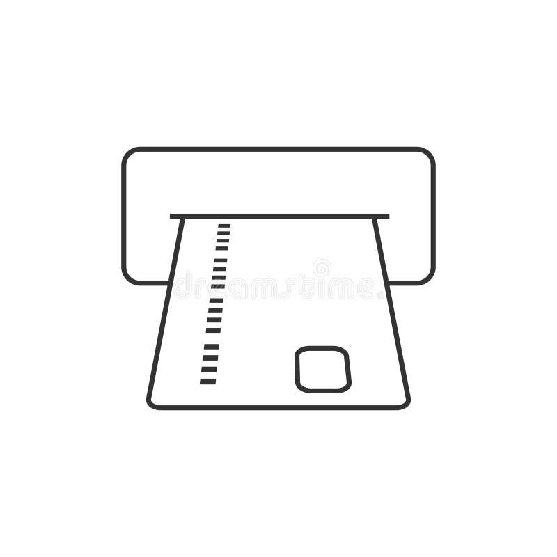 Ranura de la tarjeta de cajero automático ilustración del vector