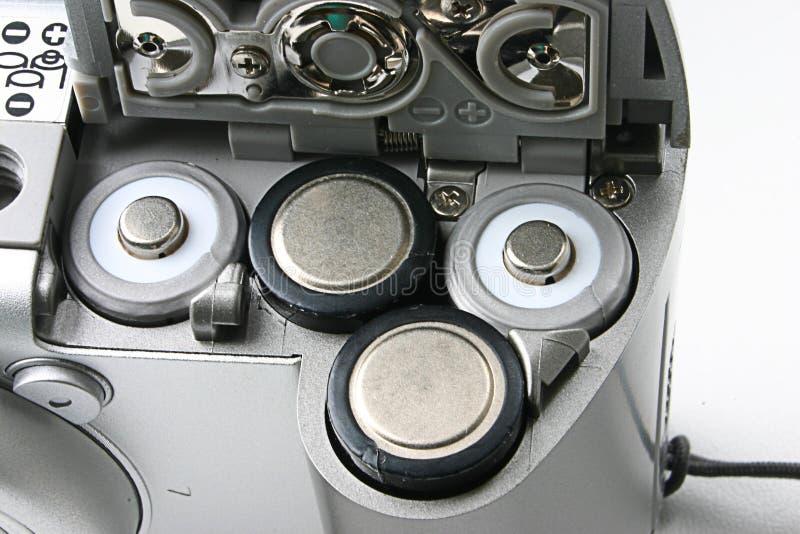 Ranuras de la batería en una cámara compacta imagen de archivo libre de regalías