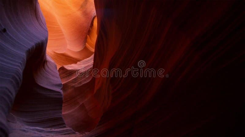 Ranure el barranco en el parque nacional de Escalante de la escalera magnífica, Utah, los E.E.U.U. Las formaciones coloridas inus imagen de archivo libre de regalías