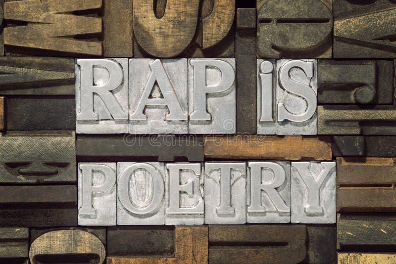 Rap är poesi arkivbilder