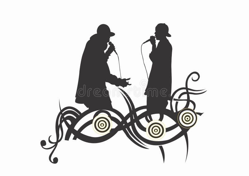 rap śpiewacy ilustracji