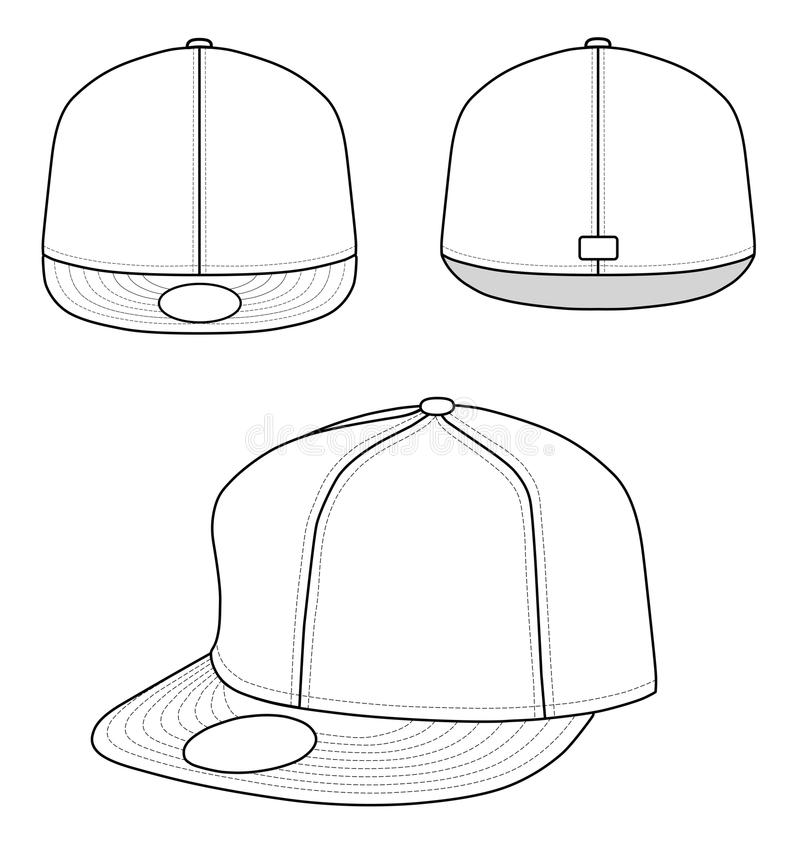 Download Rap cap stock vector. Image of clip, clothing, promoting - 9813150