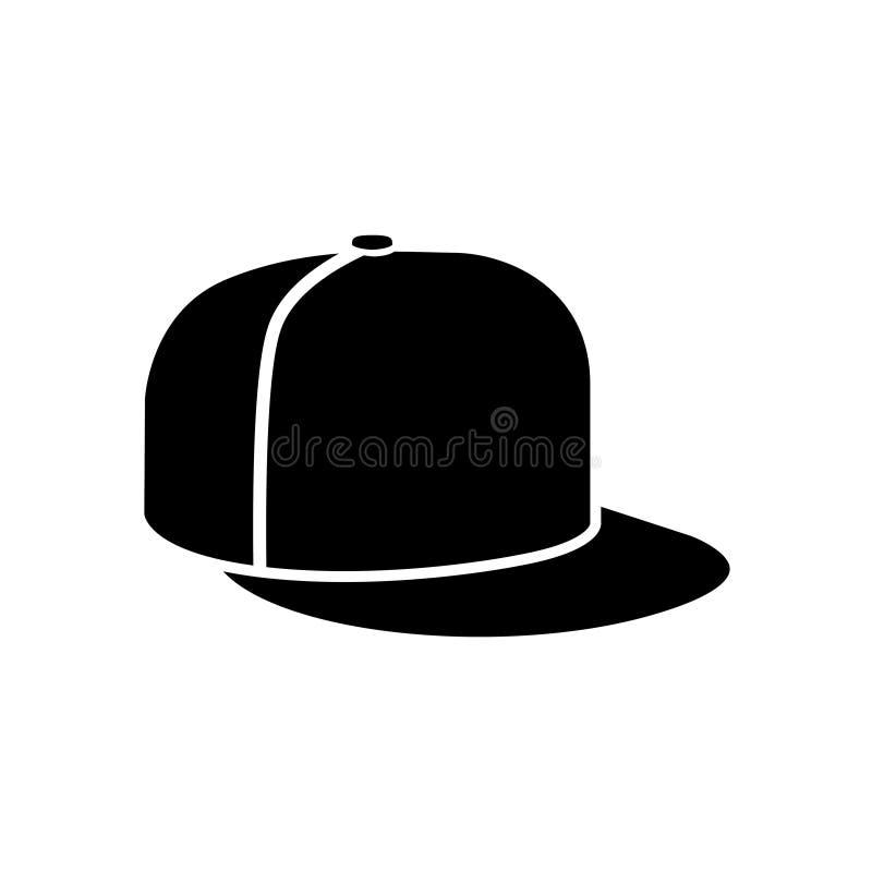 Rap cap icon. Baseball cap, on white background. Vector illustration vector illustration