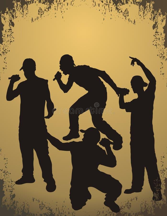 rap raper chłopcze ilustracji