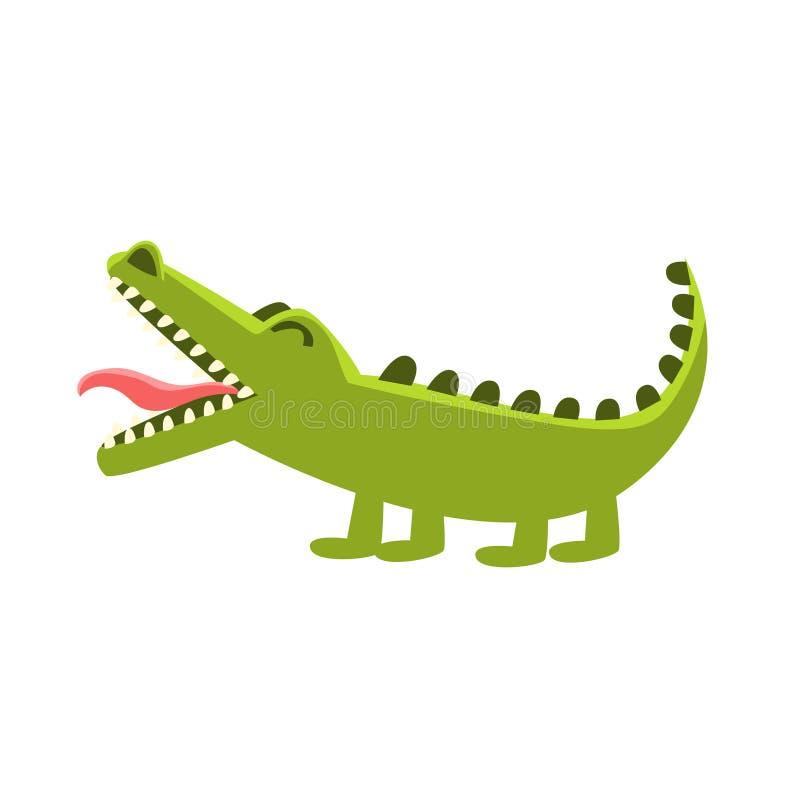 Rapa för krokodil, tecknad filmtecken och hans dagliga aktivitetsillustration för löst djur stock illustrationer