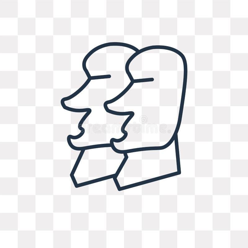 Rapa Nui wektorowa ikona odizolowywająca na przejrzystym tle, liniowym royalty ilustracja