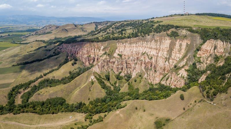 Rapa Rosie - una riserva geologica e botanica in Romania fotografie stock