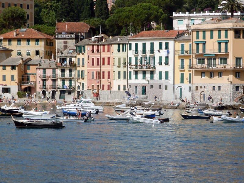 Rapallo in Italië stock afbeelding