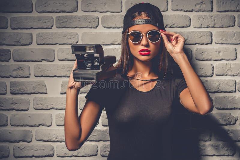 Rapariga à moda imagens de stock