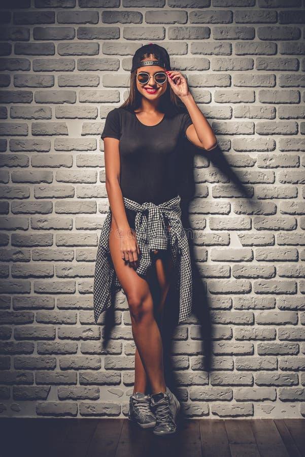Rapariga à moda imagem de stock