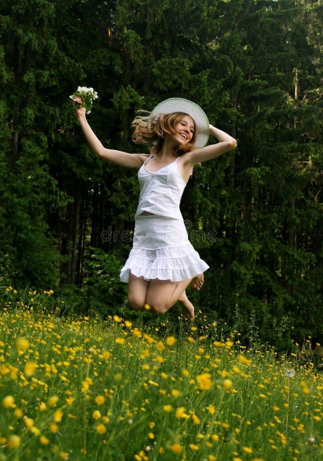 Rapariga alegre foto de stock
