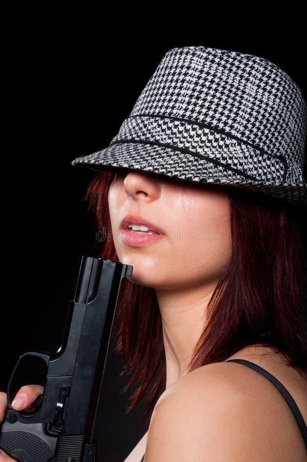 Rapariga bonita no chapéu imagens de stock