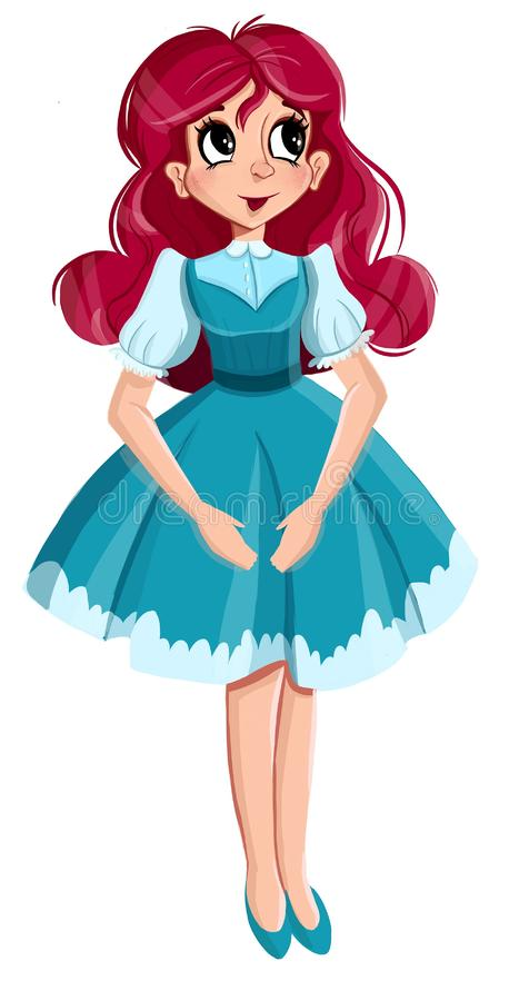 Rapariga bonita Olhar elegante à moda da menina ilustração royalty free