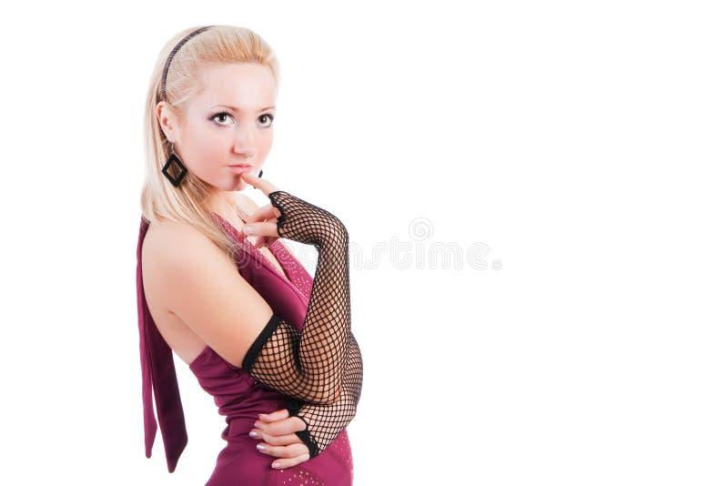 Rapariga bonita pensativa fotos de stock