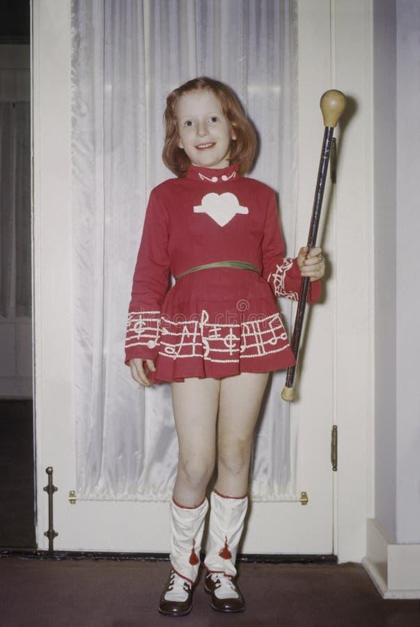 Rapariga com bastão foto de stock royalty free