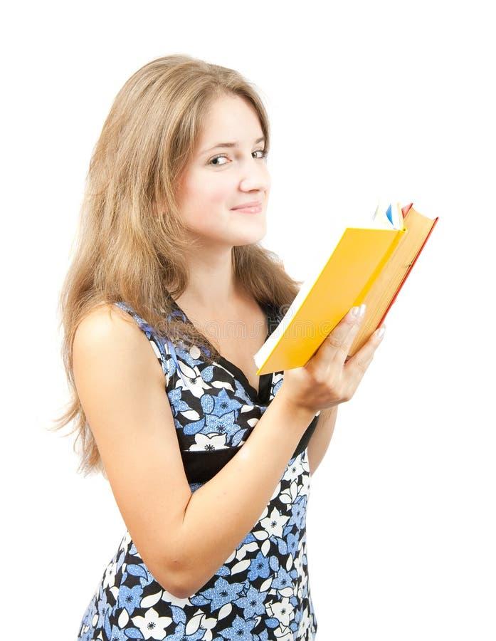 Rapariga com livro foto de stock