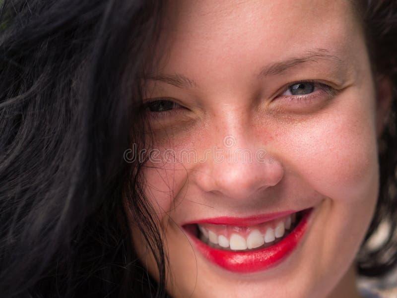 Rapariga com olhos azuis foto de stock royalty free