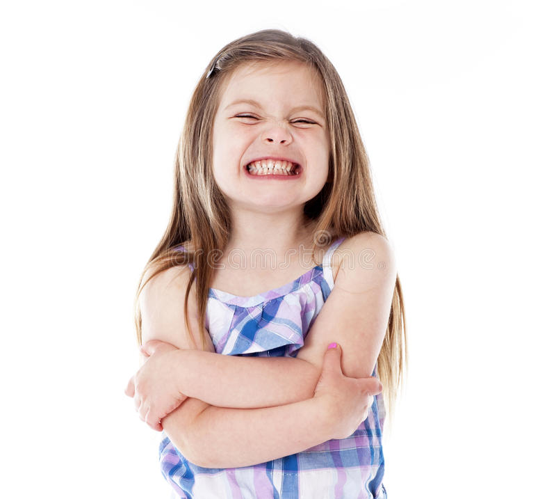 Rapariga Com Sorriso Grande Imagens de Stock