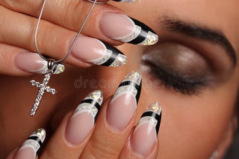 Rapariga com um manicure agradável fotografia de stock royalty free
