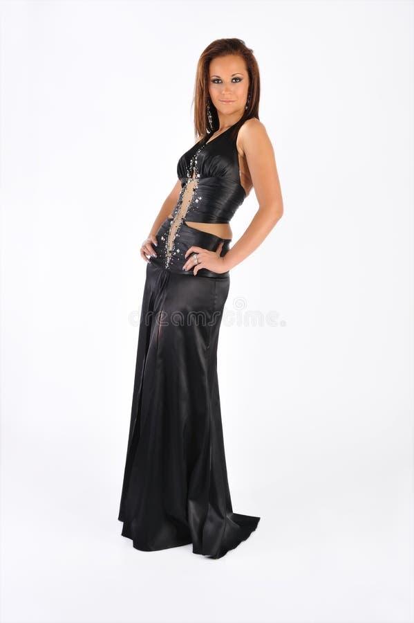 Rapariga com um vestido imagem de stock