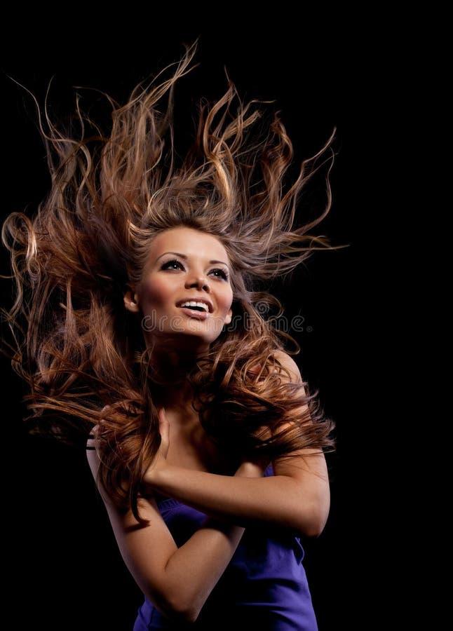 Rapariga da beleza com cabelo longo imagens de stock royalty free