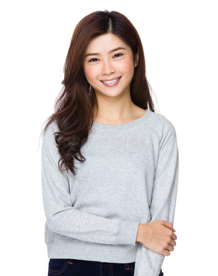 Rapariga de sorriso bonita fotografia de stock royalty free