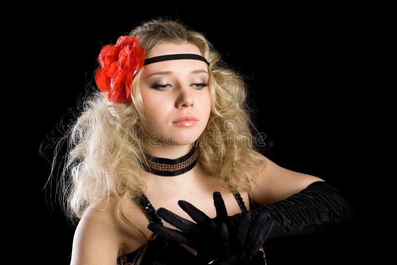 Rapariga que dança a dança expressivo do espanhol imagens de stock royalty free