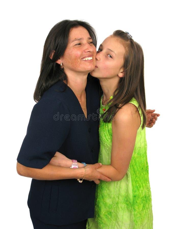Rapariga e sua matriz foto de stock royalty free