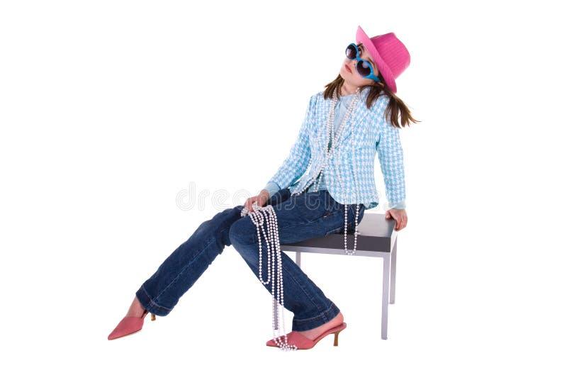 Rapariga elegante. fotografia de stock royalty free