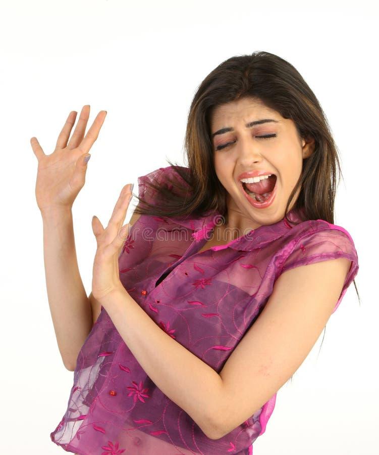 rapariga em evitar a expressão foto de stock