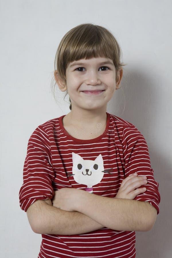 Rapariga engraçada feliz. foto de stock royalty free
