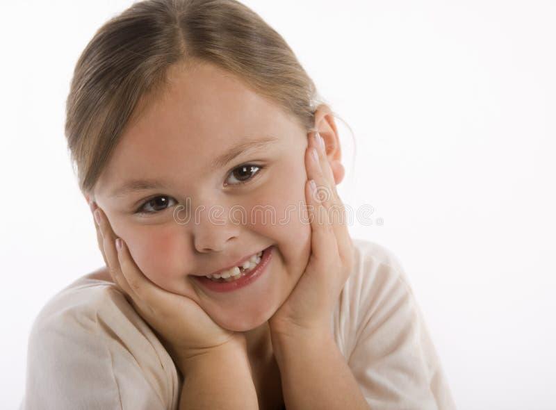 Rapariga feliz fotografia de stock