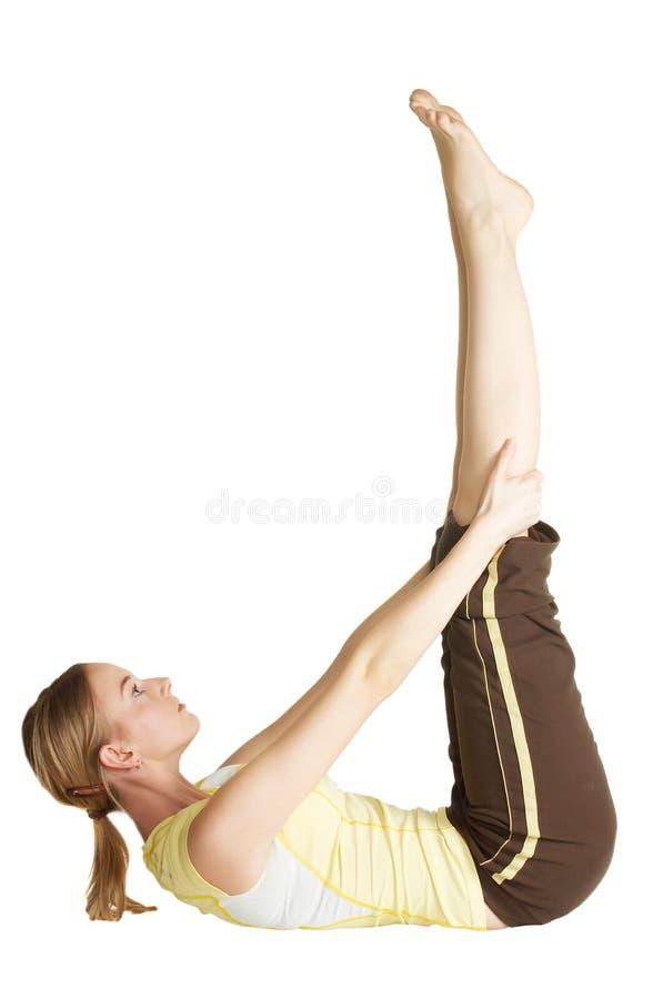 A rapariga levanta os pés para cima imagens de stock royalty free