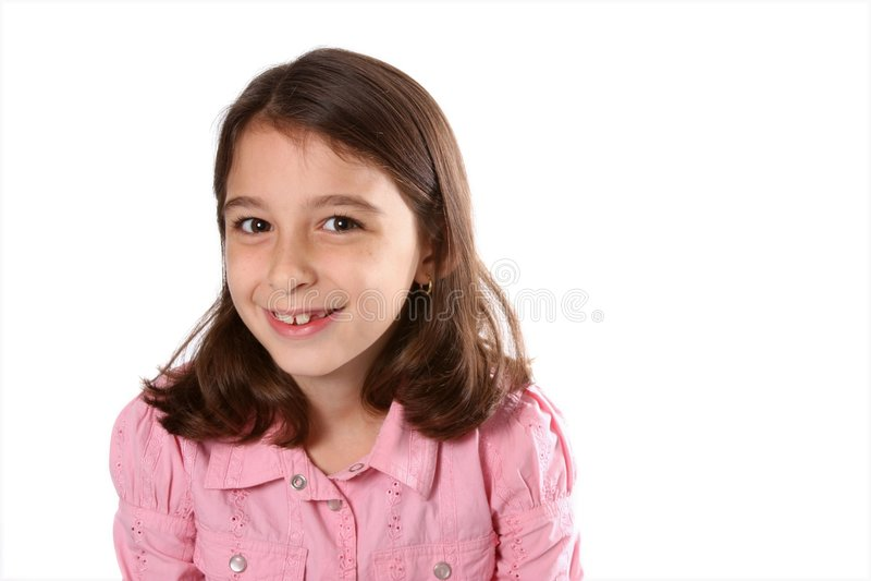 Rapariga na camisa cor-de-rosa fotos de stock royalty free