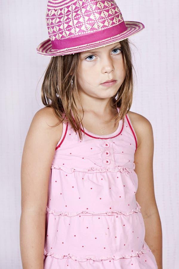 Rapariga na cor-de-rosa imagens de stock