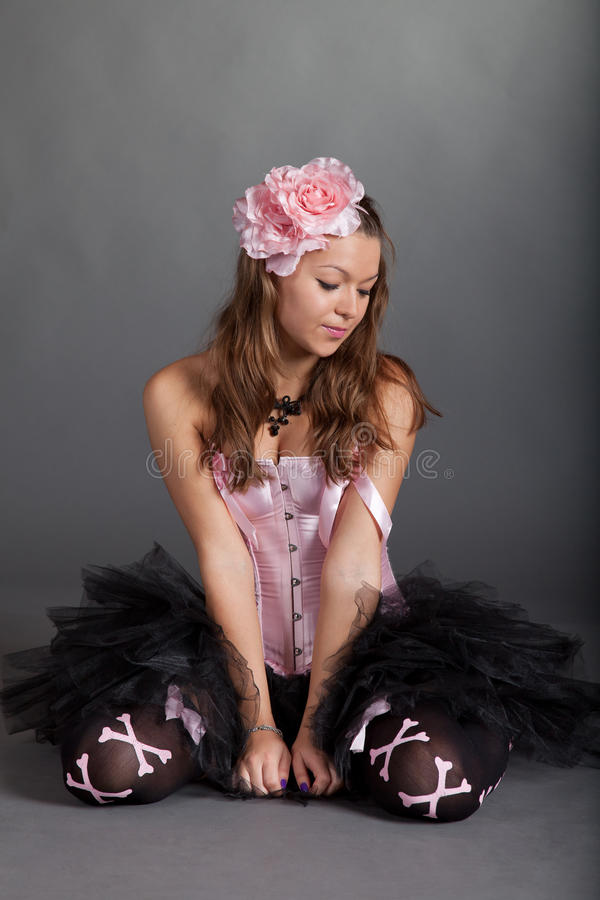 Rapariga no traje bonito fotos de stock royalty free