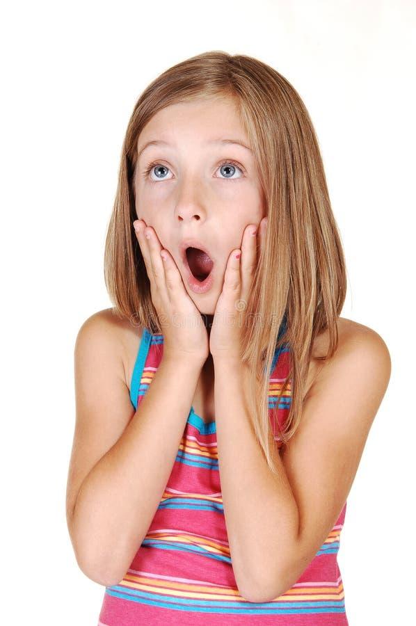 A rapariga scared. imagem de stock royalty free