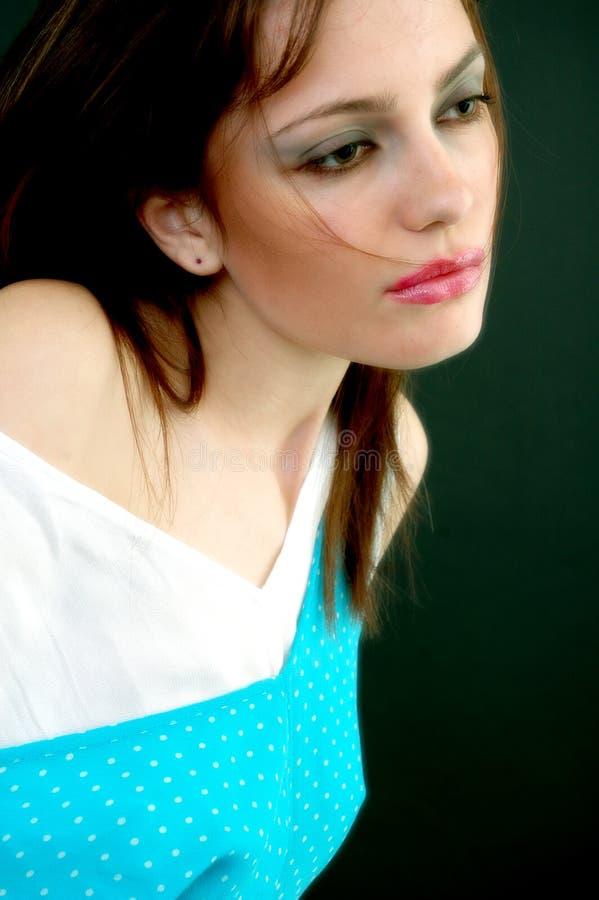 Rapariga triste mas sedutor fotografia de stock