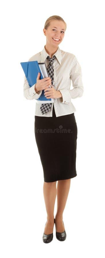 Rapariga vestida em um escritório fotografia de stock royalty free