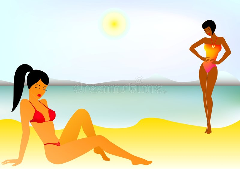 Raparigas ilustração do vetor