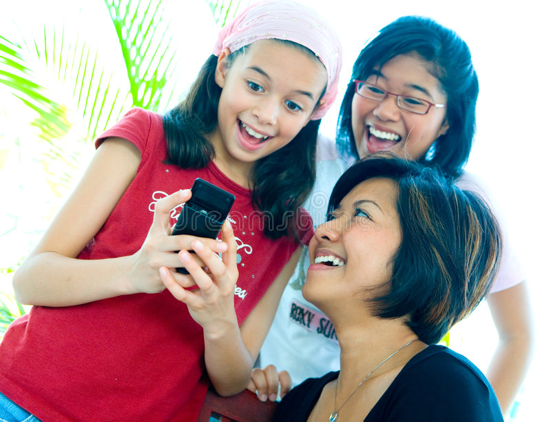Raparigas felizes e riso imagens de stock royalty free