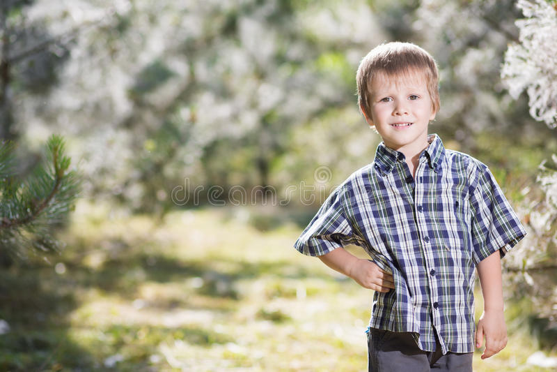 Rapaz pequeno agradável fotos de stock royalty free