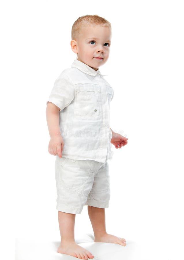 Rapaz pequeno alegre imagens de stock royalty free