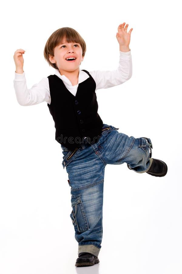 Rapaz pequeno ativo fotografia de stock royalty free