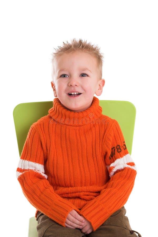 Rapaz pequeno de riso imagem de stock royalty free